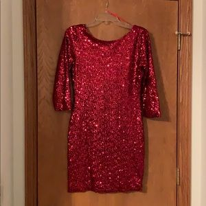 Gianni Bini Red Sequin Dress